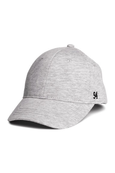 Cotton cap - Light grey marl/Jersey - Kids | H&M CN