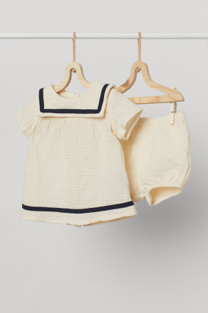 2-piece cotton sailor set