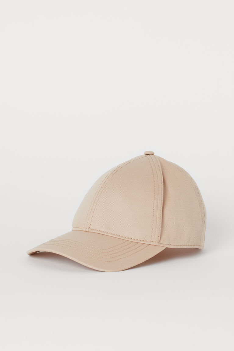 Cotton Twill Cap - Light beige -  | H&M CA
