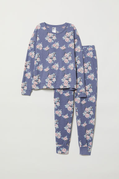 Pyjamas - Blue marl/Flowers - Ladies | H&M CN