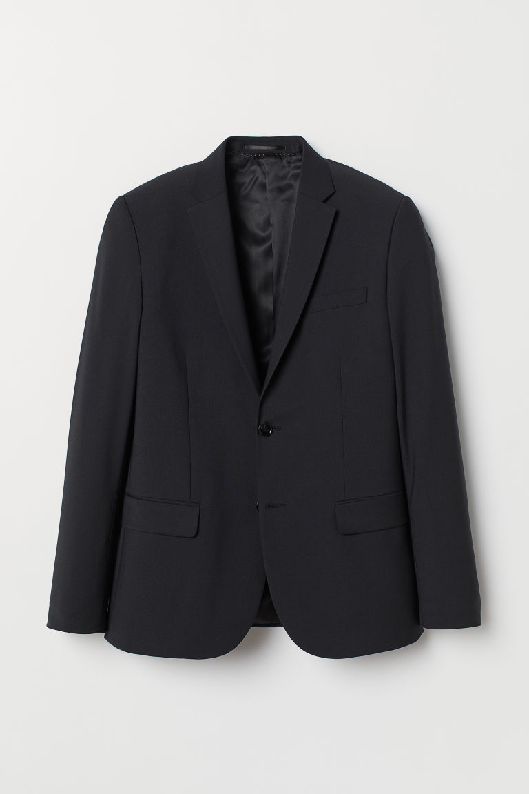 Skinny Fit Wool-blend Blazer - Black - Men | H&M CA