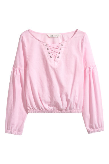 Cotton blouse - Light pink - Kids | H&M