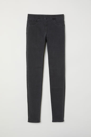 Superstretch tregging - Donkergrijs/washed out - DAMES | H&M BE