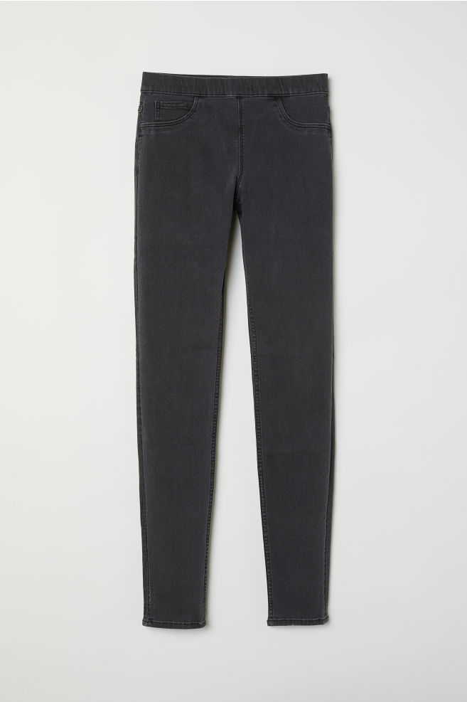 75399c571eb2ae Superstretch treggings - Dark grey/Washed out - Ladies | H&M ...