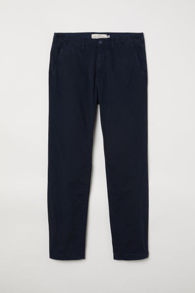 Chinos in cotone - Blu scuro -  | H&M IT