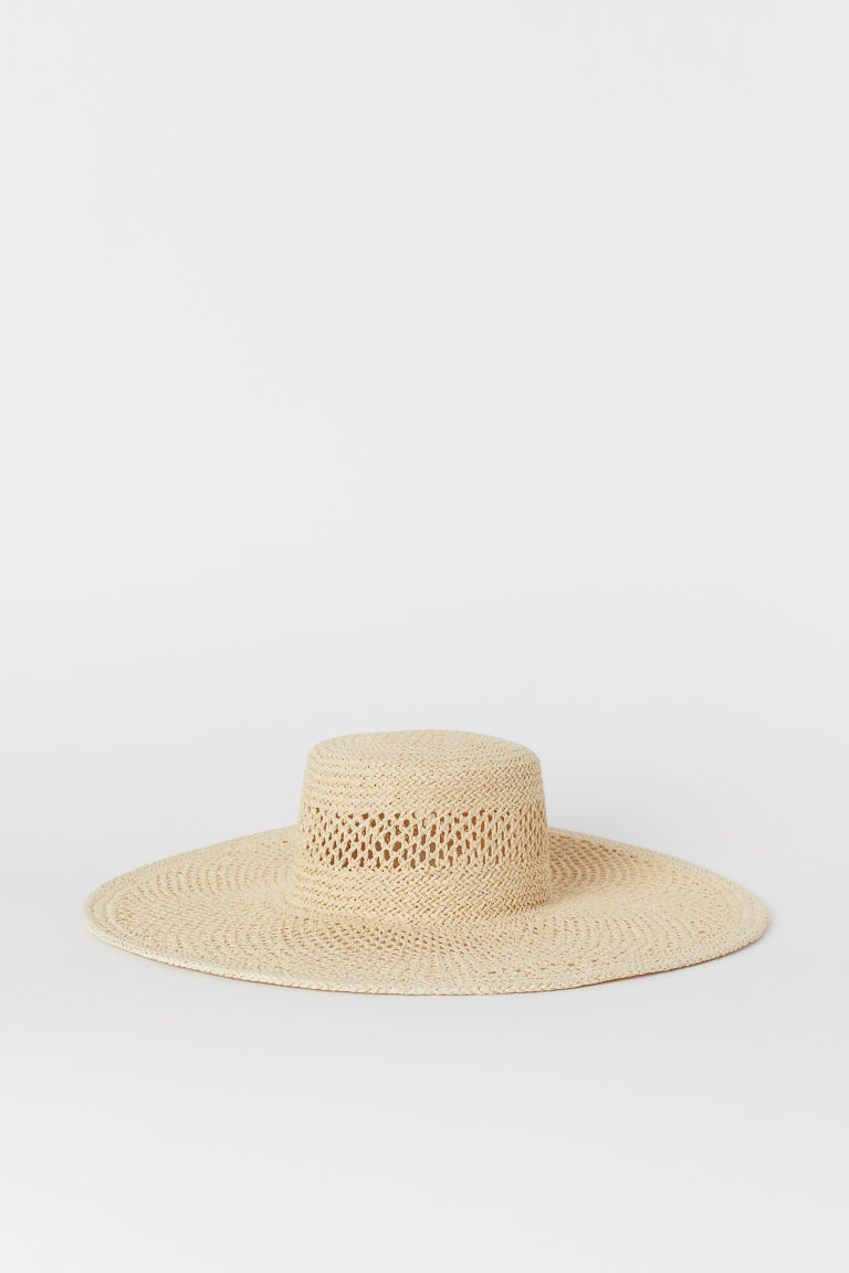 Large Straw Hat - Natural - Ladies | H&M CA