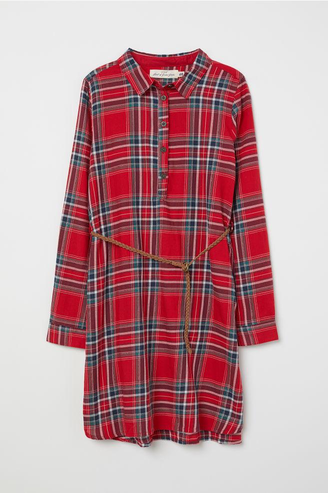 092506a9493f Košeľové šaty - červená károvaná - DETI
