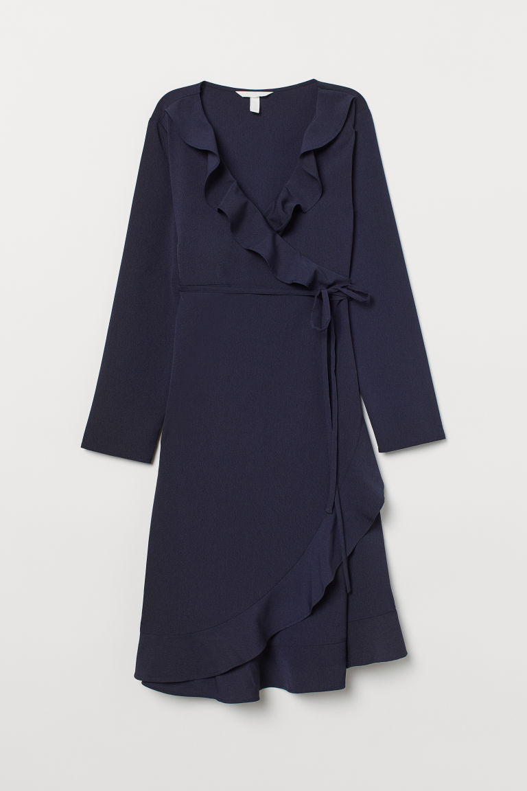 MAMA Wrap dress - Dark blue - Ladies | H&M CN