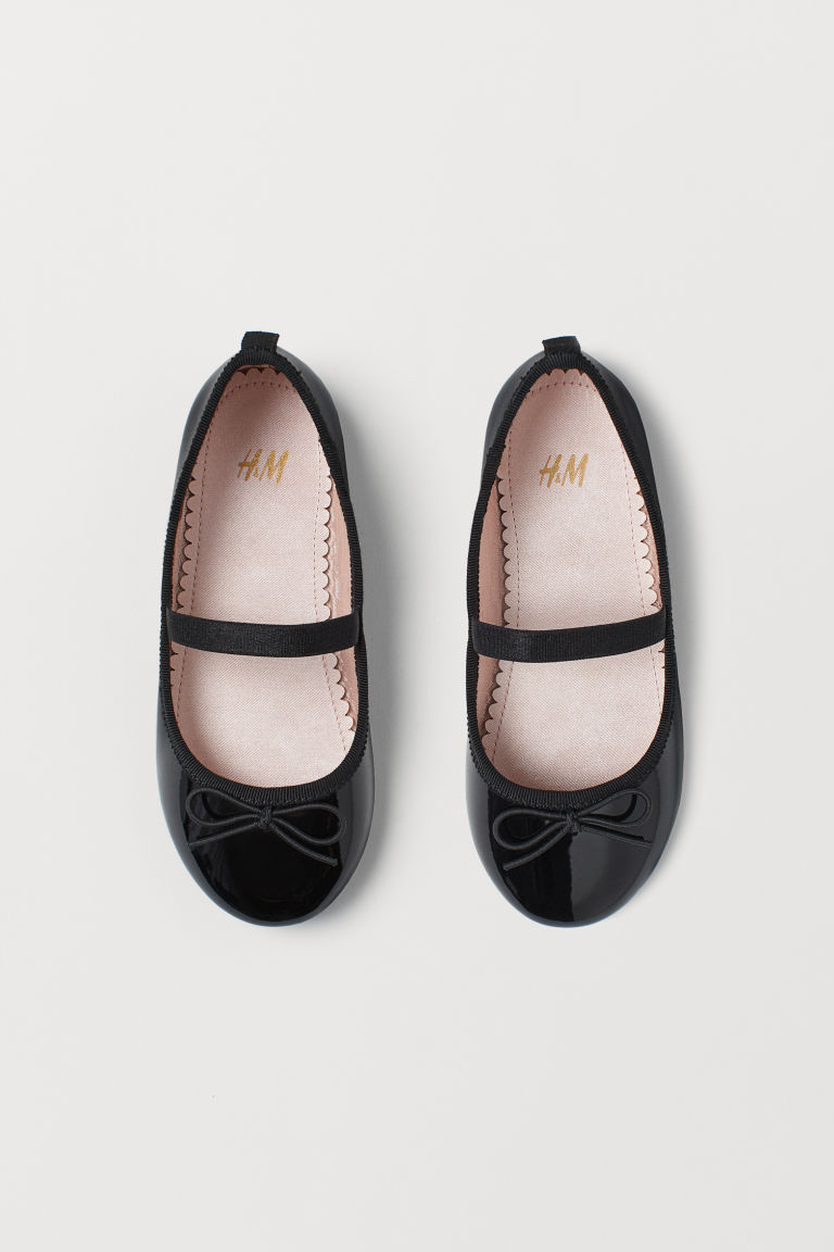 Ballet pumps - Black/Patent - Kids | H&M CN