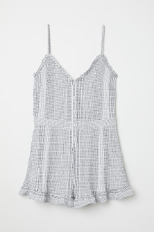 Playsuit with frills