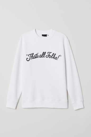 Printed sweatshirt - White/Looney Tunes - Men | H&M