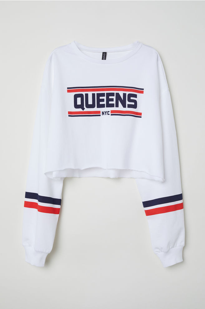 49caec51c8d1f Cropped sweatshirt - White NYC -