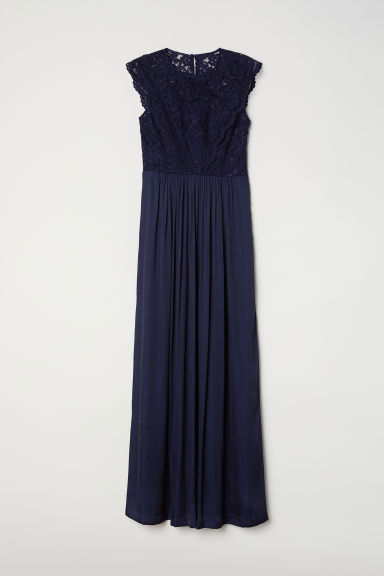 Long dress - Dark blue - Ladies | H&M