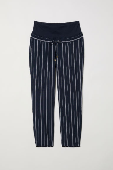 MAMA Pantaloni ampi - Blu scuro/righe -  | H&M IT
