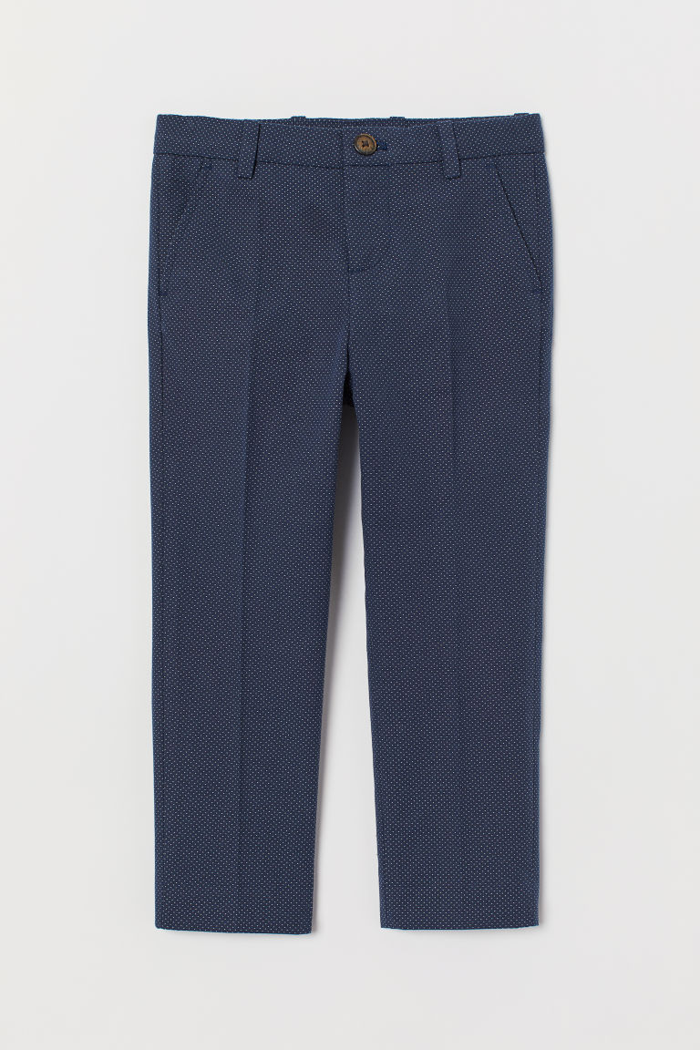 Suit trousers - Dark blue/Spotted - Kids | H&M