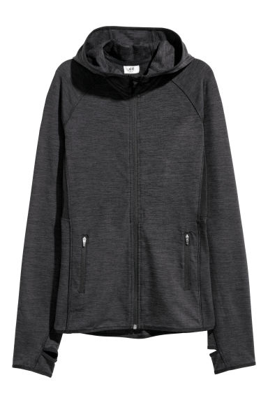 Outdoor jacket - Black marl - Ladies | H&M