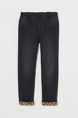 Pull-on Loose Lined Jeans