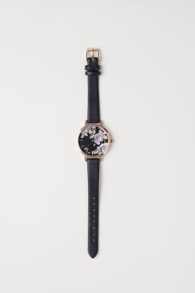 Watch - Rose gold-coloured/Black - Ladies | H&M CN