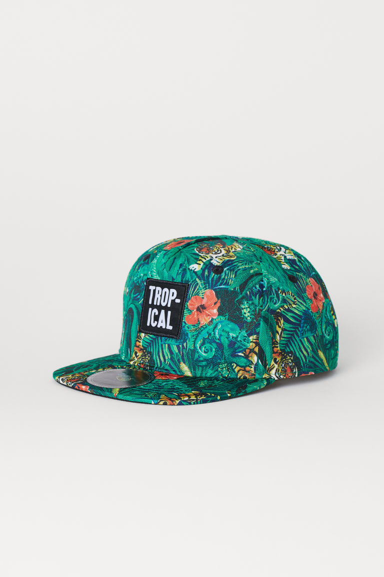 Patterned Cap - Green/jungle - Kids | H&M US