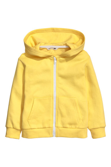 Hooded jacket - Bright yellow -  | H&M CN