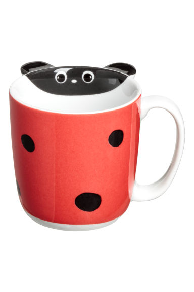 Animal-motif mug - Red/Ladybird - Home All | H&M CN