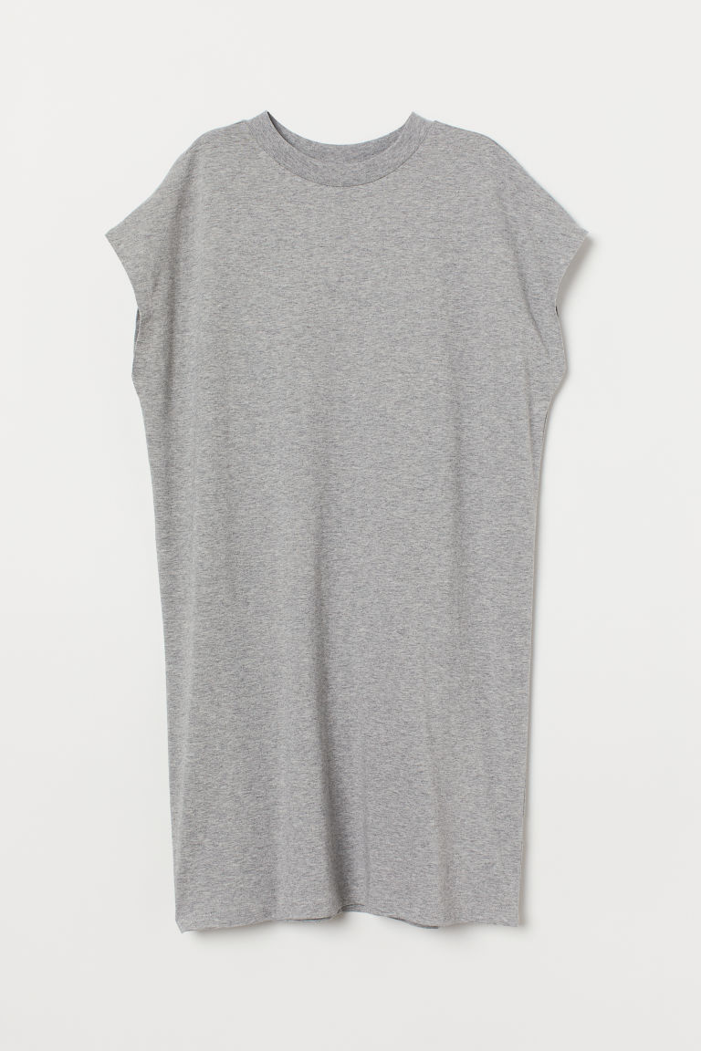 Jersey dress - Light grey marl -  | H&M CN