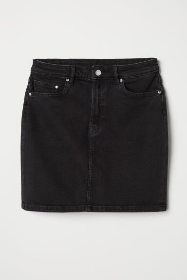Denim skirt - Black denim - Ladies | H&M CN