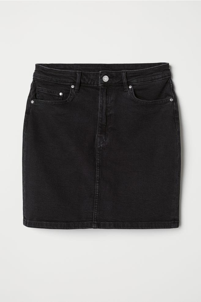 c32d64ebfeb3 Jupe en jean - Denim noir - FEMME