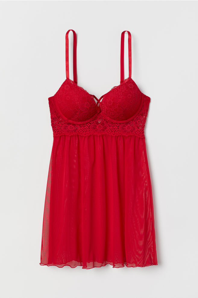 a54b40c164 ... Super Push-up Nightgown - Red - Ladies