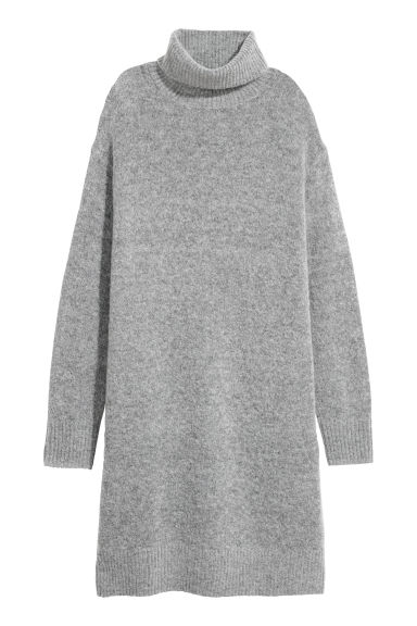 Knitted dress - Grey - Ladies | H&M