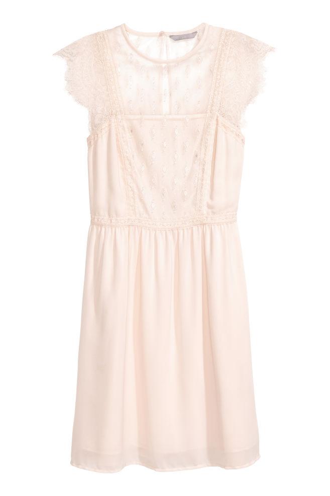 01c3d8e4984fc Lace dress - Powder pink - Ladies | H&M ...