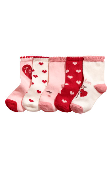 5-pack socks - Red -  | H&M