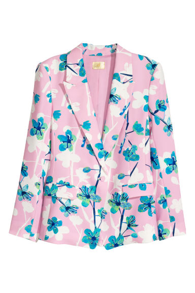Fitted jacket - Pink/Floral - Ladies | H&M IE