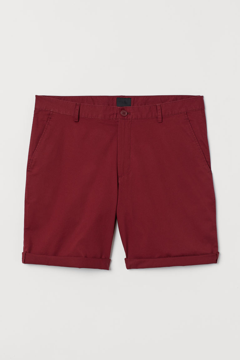 Chinoshort - Donkerrood - HEREN | H&M BE
