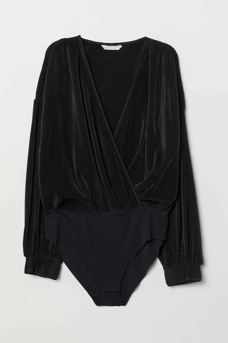 Pleated body - Black - Ladies | H&M CN