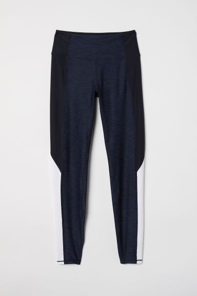 Sports tights - Dark blue/Black marl - Ladies | H&M CN