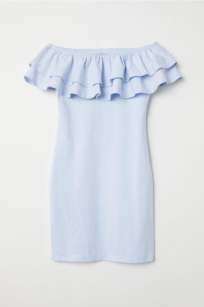 f8fc398c4a4b Off-the-shoulder Dress - Light blue - Ladies
