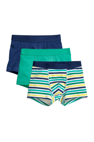 3-pack boxer shorts - Green/Striped - Kids | H&M CN