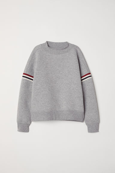 Scuba sweatshirt - Grey marl - Ladies | H&M GB