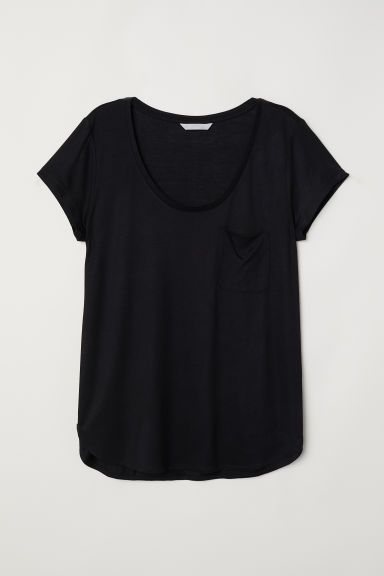 Jersey top - Black - Ladies | H&M