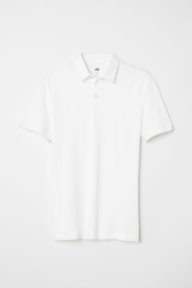 Cotton polo shirt - White - Men | H&M CN
