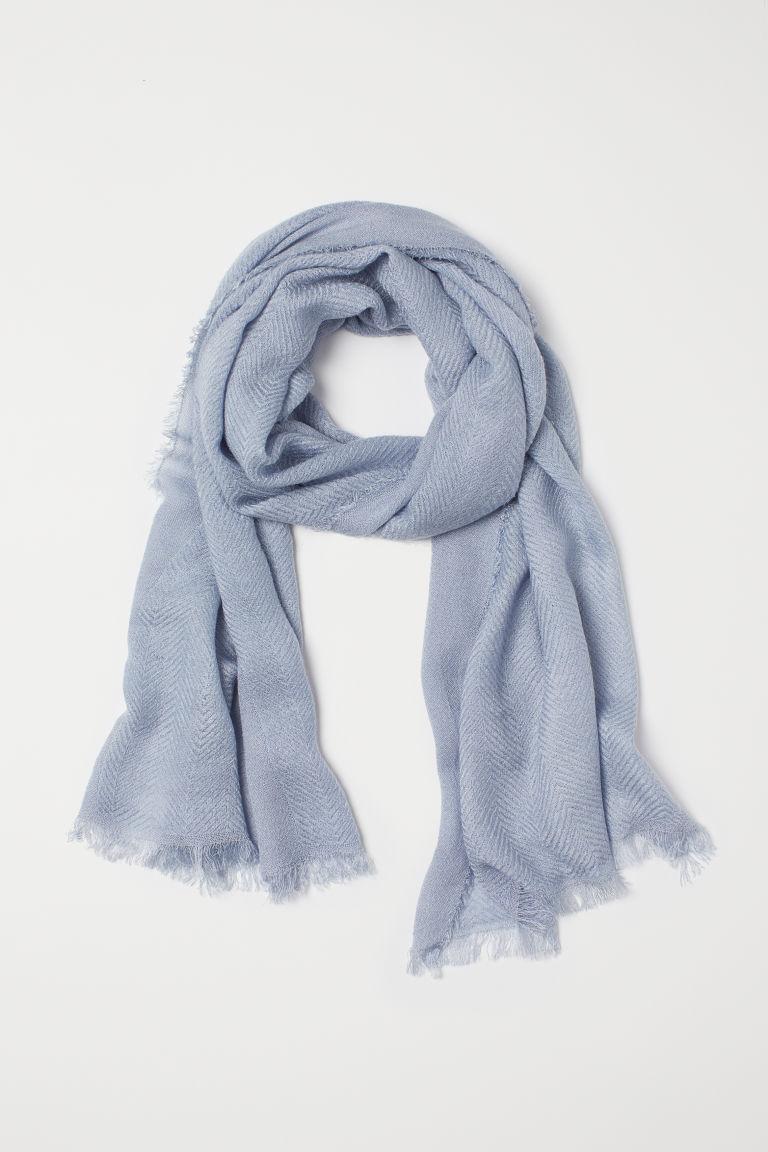 negozio del Regno Unito aspetto dettagliato vendita economica Sciarpa in tessuto - Blu tortora - DONNA | H&M IT