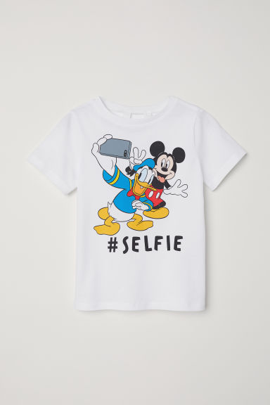Printed T-shirt - White/Donald Duck - Kids | H&M