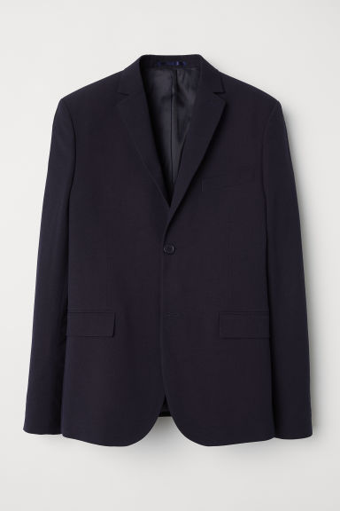 Jacket Slim fit - Dark blue - Men | H&M IN