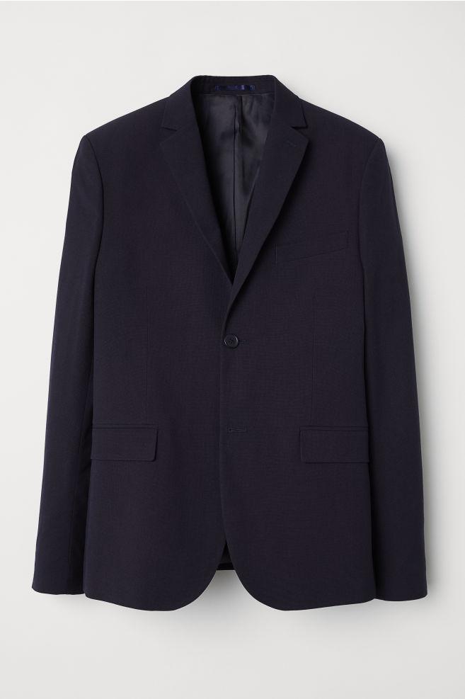 0b5934629d04 Blazer Slim fit - Dark blue - Men | H&M ...