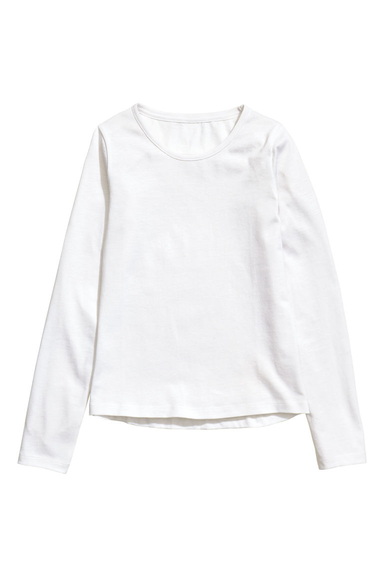 2-pack tops - Pink/Silver-coloured stripes - Kids | H&M