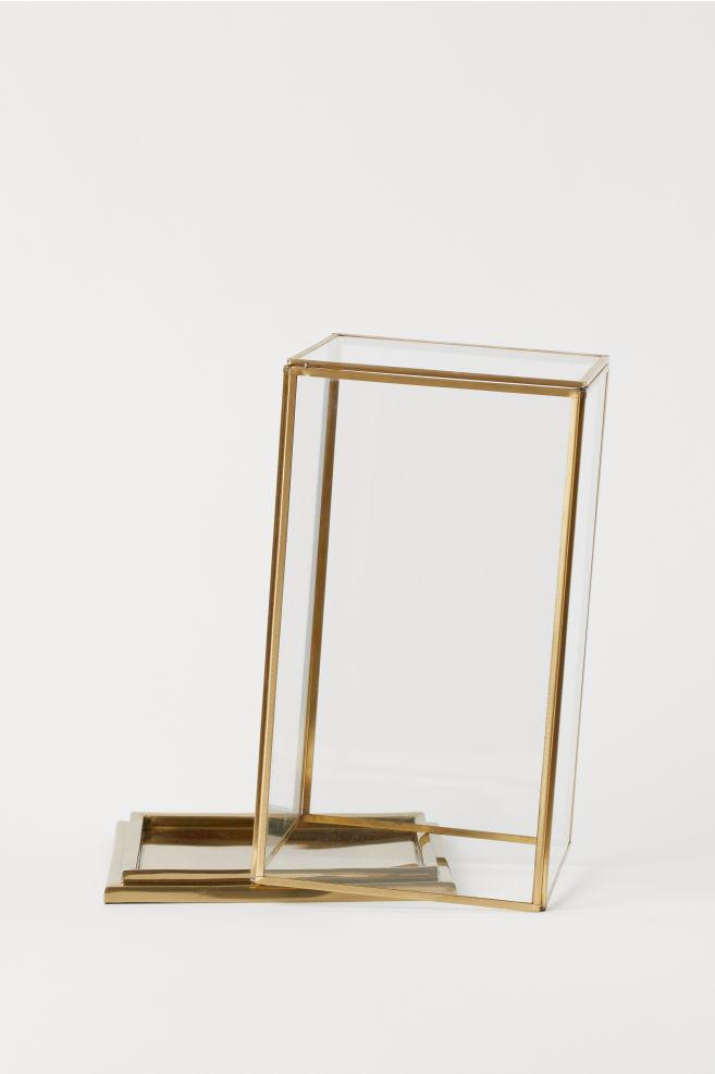 Stor Kuppel i glass med metallramme - Gull - Home All | H&M NO OQ-45
