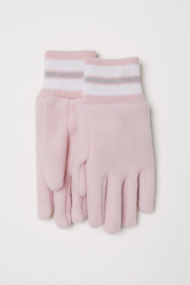 Fleece gloves - Light pink - Kids | H&M CN