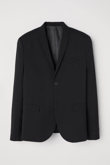 Jacket Skinny fit - Black - Men | H&M