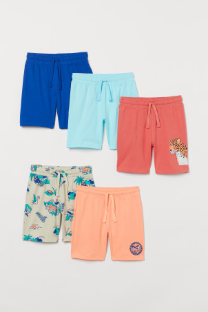 5-pack jersey shorts